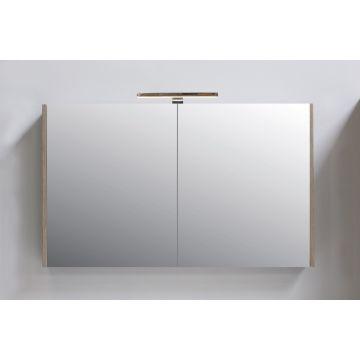 Sub Top spiegelkast 2 deuren met spiegel aan de binnenzijde van de deuren 100x14x60cm