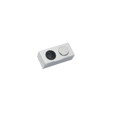 Sub Verlichting schakelaar / stopcontact tbv spiegelkast, aluminium