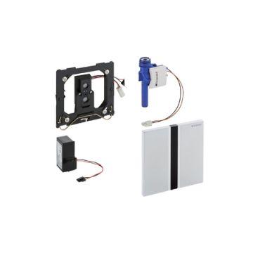 Geberit bedieningspaneel urinoir met elektronische spoeling, 230 V, geborsteld chroom