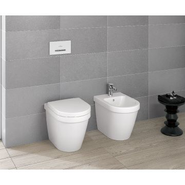 Villeroy & Boch ViConnect E300 bedieningspaneel, wit-chroom