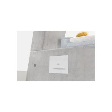 Villeroy & Boch ViConnect E300 bedieningspaneel, chroom-chroom