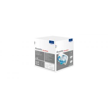 Villeroy & Boch Avento Combipack hangend toilet DirectFlush inclusief toiletzitting met softclose en quickrelease, mat wit