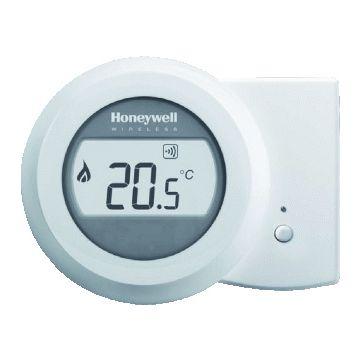 Honeywell Round Wireless Modulation kamerthermostaat Opentherm, wit
