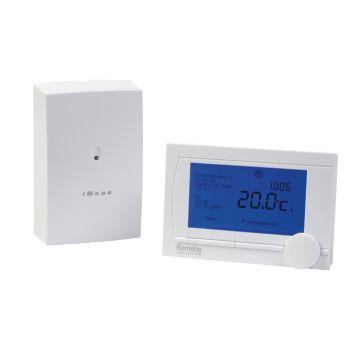 Remeha iSense draadloze klokthermostaat met iBase RF-zender, wit