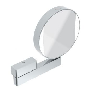 Emco dubbelzijdige cosmeticaspiegel met LED-verlichting, chroom