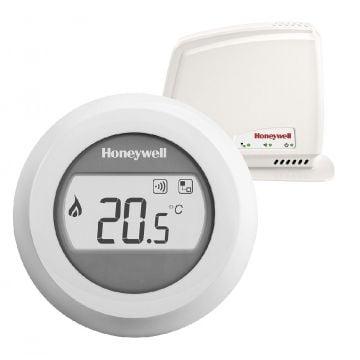 Honeywell Round Connected Modulation kamerthermostaat Opentherm 230V met draaiknop, wit