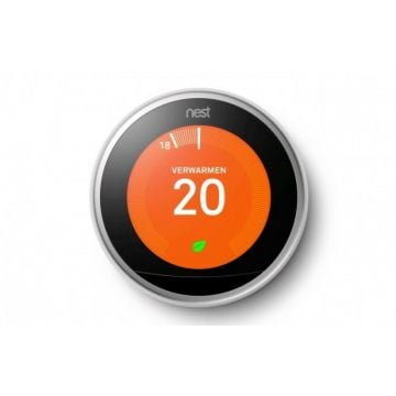 Nest Learning Thermostat slimme thermostaat (3e generatie), zilver