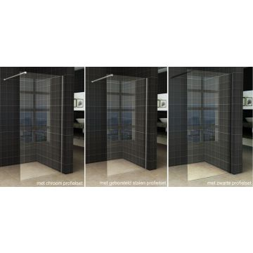 Wiesbaden Slim inloopdouche zonder profiel 90x200 cm 8 mm NANO-glas