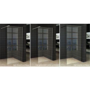 Wiesbaden Slim inloopdouche zonder profiel 120x200 cm 8 mm NANO-glas