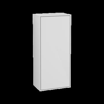 Villeroy & Boch Finion zijkast met 1 rechtsdraaiende deur 41,8x93,6x27 cm, glossy wit
