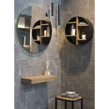 LoooX Wooden Mini Base Shelf 40 cm, old grey eiken