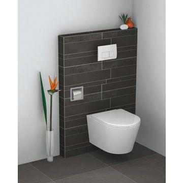 Sub inbouw toiletrolhouder 17,3 x 17,3 x 8,6 cm, roestvaststaal (rvs)