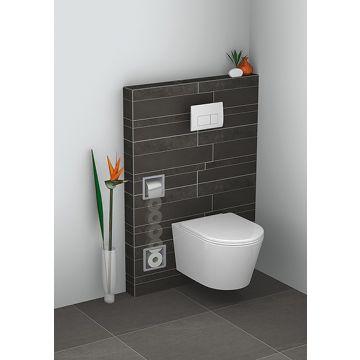 Sub inbouw toiletrolhouder met reserverollen, RVS