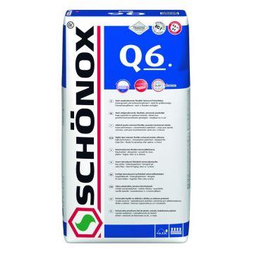 Schonox Q6 q6 flexibele universele poederlijm zak 25 kg., grijs