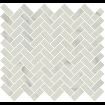 Sub 1737 tegelmat 30x26 cm, visgraat 1,8x4,2 cm, essential white