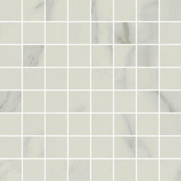Sub 1737 tegelmat 30x30 cm, blok 3,7x3,7 cm, essential white