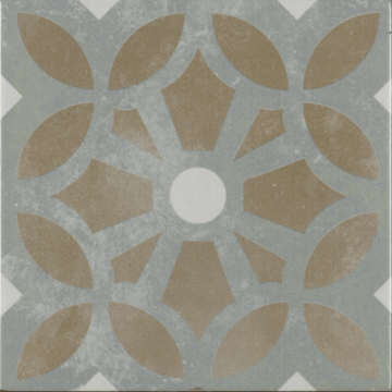 Sub 1742 keramische patchwork tegel 22,3x22,3 cm, cezanne