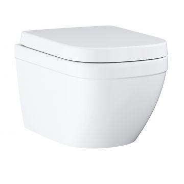 GROHE Euro Ceramic hangend toilet met softclose-zitting en deksel, wit