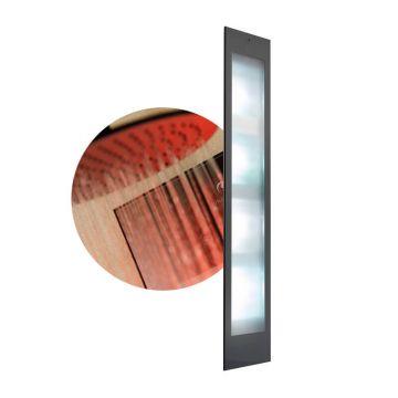 Sunshower Deluxe full body inbouwmodel UV en infrarood 187x32x17 cm, zwart
