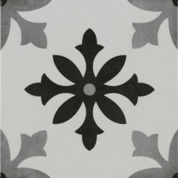 Sub 1742 keramische patchwork tegel 22,3x22,3 cm, degas blanco
