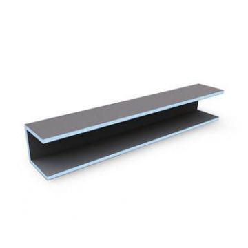 Wedi Mensolo u tegel element 2600 x 200 x 200 mm., blauw