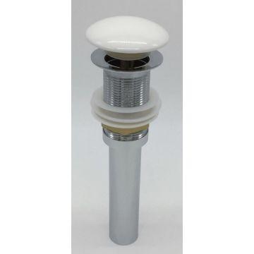 Sub 068-162 keramische click plug voor wastafel fontein, wit glanzend