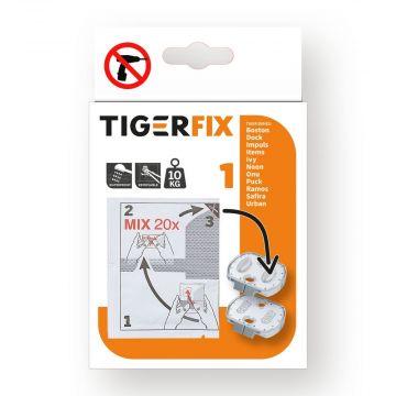 Tiger TigerFix type 1, set van 2 stuks, 4 x 0,6 x 3,5 cm, chroom