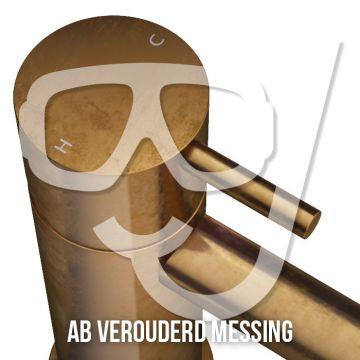 Hotbath Cobber afbouwdeel voor inbouwthermostaat geschikt voor bad/douche met uitloop HBCB7072, verouderd messing