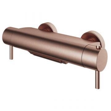 Hotbath Buddy thermostatische badmengkraan met cascade-uitloop, geborsteld koper