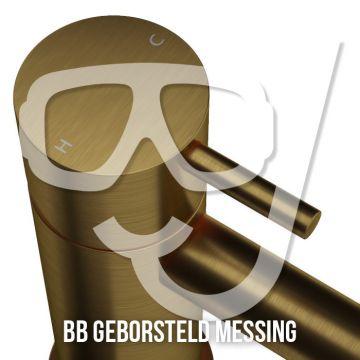 Hotbath Cobber afbouwdeel voor inbouwthermostaat geschikt voor bad/douche met uitloop HBCB7072, geborsteld messing