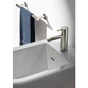 Hotbath Cobber bidetkraan 14,3 cm hoog met rechte uitloop van 10,9 cm, geborsteld messing PVD