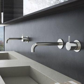 Hotbath Cobber afbouwdeel inbouwwastafelmengkraan met 18 cm uitloop, chroom