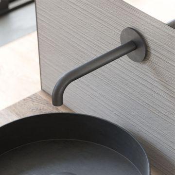 Hotbath Cobber uitloop lengte 15 cm, geborsteld koper pvd