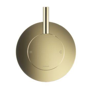Hotbath Cobber afbouwdeel voor inbouwthermostaat geschikt voor bad/douche met uitloop HBCB7072, gepolijst messing PVD