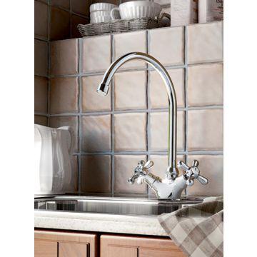 Hotbath Amice keukenkraan met draaibare uitloop, chroom