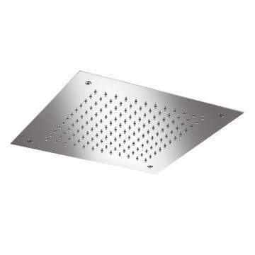 Hotbath Archie inbouw plafonddouche vierkant 380 mm inclusief inbouwframe, RVS 316