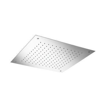 Hotbath Archie inbouw plafonddouche vierkant 500 mm inclusief inbouwframe, RVS 316