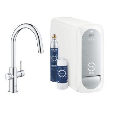 GROHE Blue Home starterkit Chilled & Sparkling met Duo C-uitloop, chroom