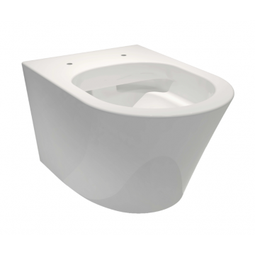 Sub 104 hangend toilet diepspoel spoelrandloos vuilafstotend, wit