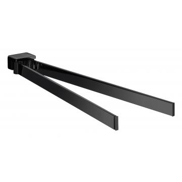 Emco Loft 2-armige handdoekhouder 3 x 4 x 43,7 cm, zwart