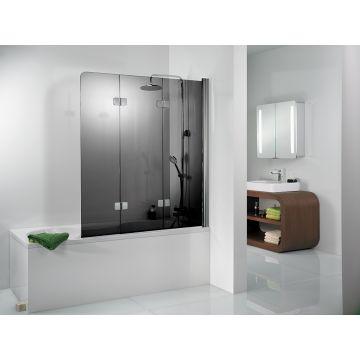 HSK Premium Softcube badwand Edelglas montagezijde links 114x140cm, chroom