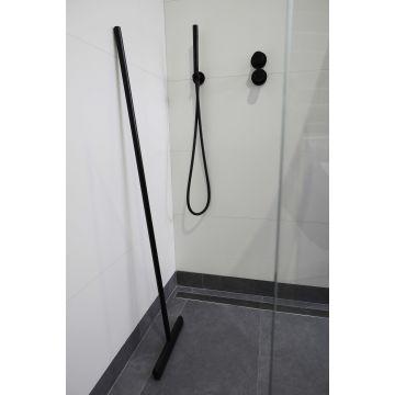 Luca Wissers vloerwisser met ophanghaakje 32x125 cm, mat zwart