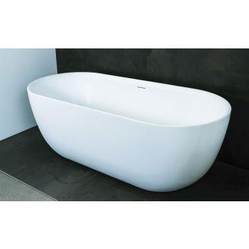 Luca Sanitair Primo vrijstaand bad van acryl inclusief afvoerset chroom 180 x 80 x 60 cm, mat wit