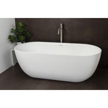 Luca Sanitair Primo vrijstaand bad van acryl inclusief afvoerset chroom 180 x 80 x 60 cm, glanzend wit