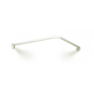 Linido douchegordijnrail 90x90cm, staal gecoat wit