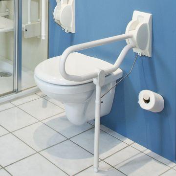 Linido Egrogrip opklapbare toiletbeugel 70cm, staal gecoat wit