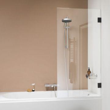 Sealskin Get Wet I AM badwand 1-delig 850x1600 mm matzwart helder glas + antikalk