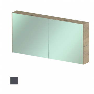 Sub spiegelkast 120cm Antraciet mat