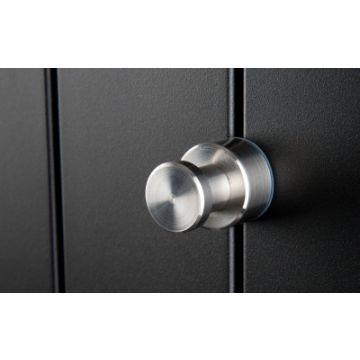 Instamat handdoekknop voor TH/TV paneelradiatoren en Instamat Deco 35 mm, geborsteld RVS