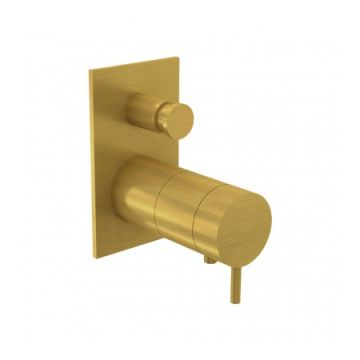 Sub Flow thermostaat, brush brass